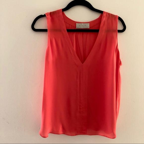 92d55ae37a A.L.C. Tops | Alc Sleeveless Diana Orange Silk Tank Size S | Poshmark